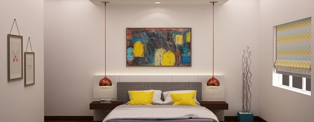 Headboard and lighting :  Bedroom by NVT Quality Build solution