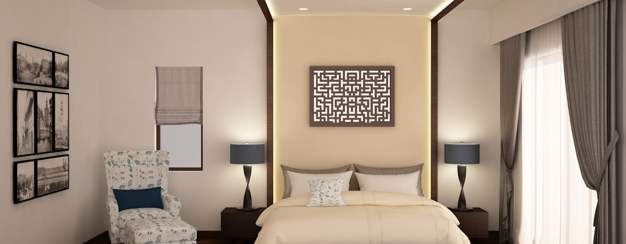 Headboard and ceiling design :  Bedroom by NVT Quality Build solution