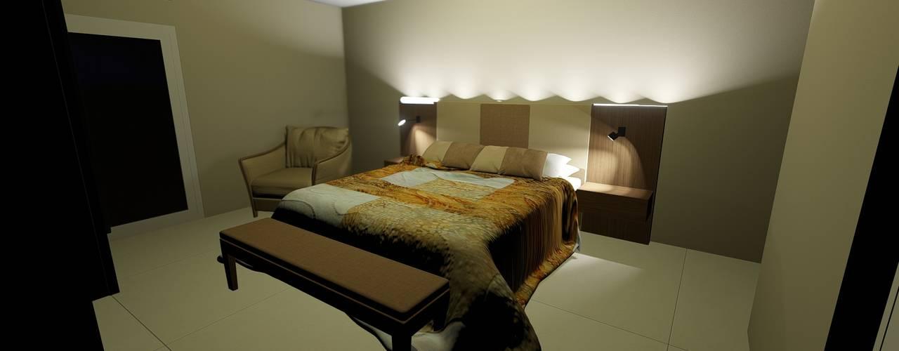 DORMITORIOS Aida tropeano& Asociados Dormitorios modernos: Ideas, imágenes y decoración Derivados de madera Acabado en madera