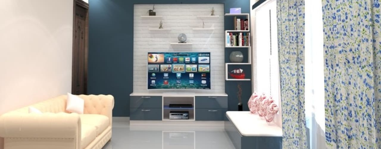 Living Room:  Living room by DECOR DREAMS
