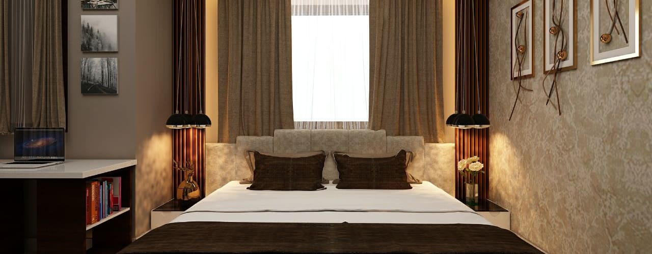 Amanora Park Pune - Pent House:  Bedroom by DECOR DREAMS