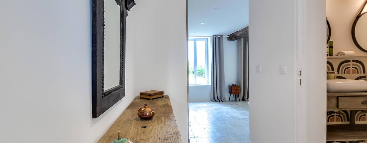 Longère blackStones Couloir, entrée, escaliers scandinaves