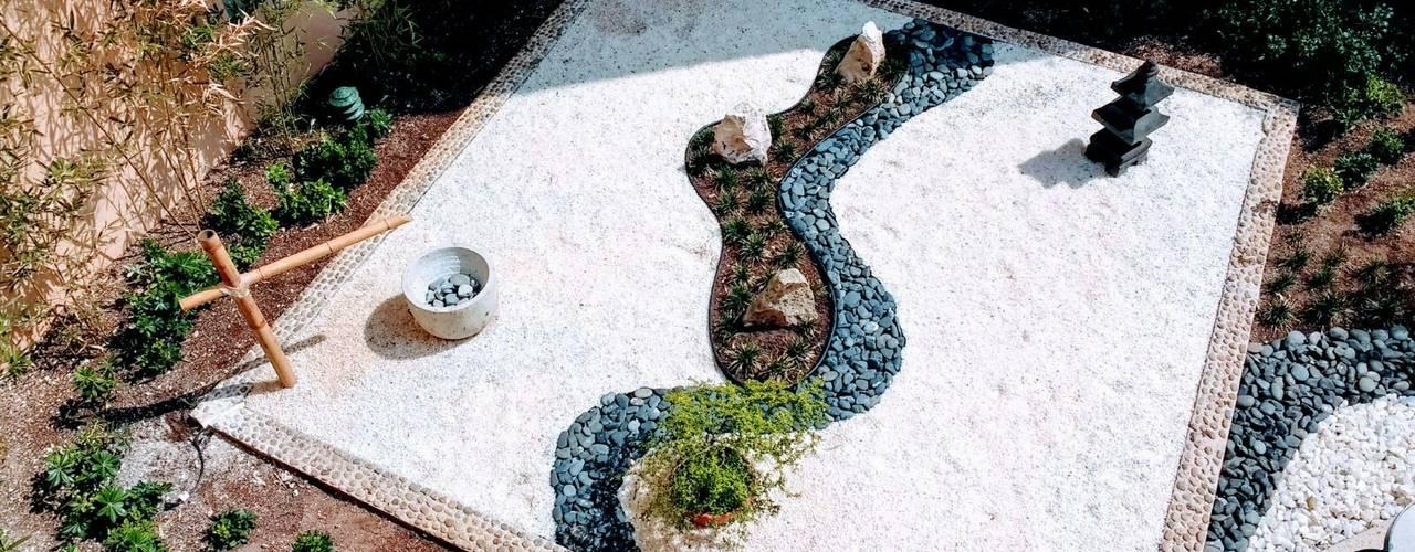 Giardino Zen in stile  di David Araiza Pérez DAP Diseño,  Arquitectura  y Paisaje