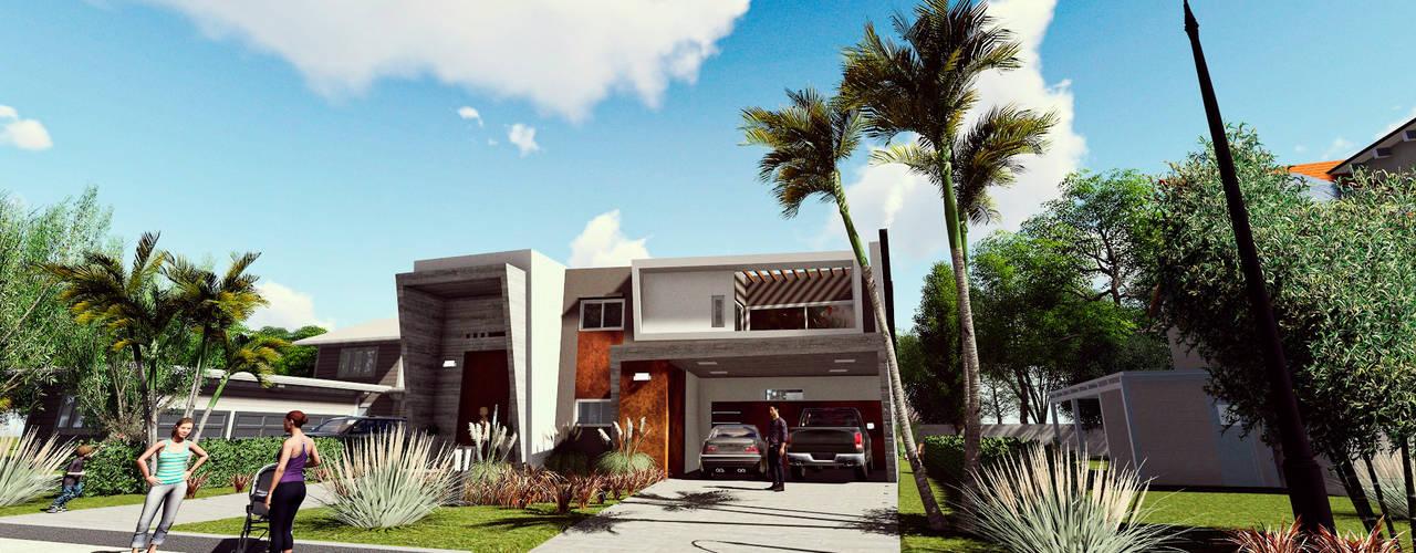 Casa AP: Casas unifamiliares de estilo  por Módulo 3 arquitectura