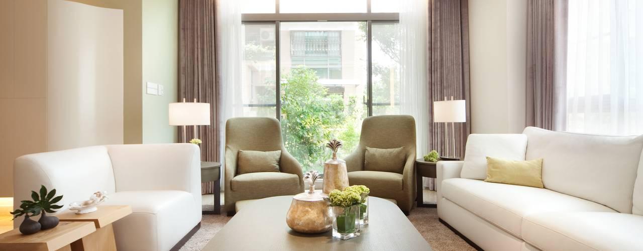 Herb HOUSE 现代客厅設計點子、靈感 & 圖片 根據 沐光植境設計事業 現代風