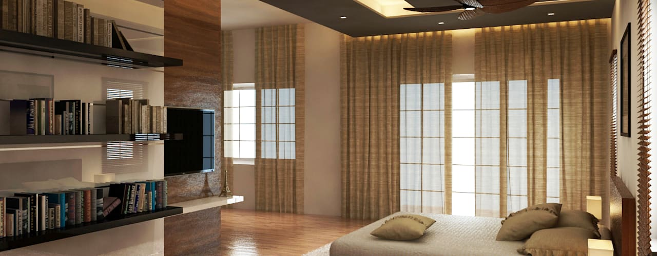 Shobha's Residence,Panaiyur:  Bedroom by M/s Studio7 Architects