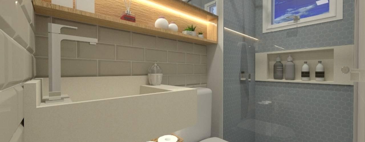 Bathroom by Letícia Saldanha Arquitetura,