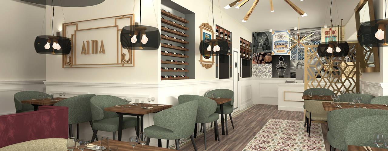 Sala de restaurante: Espaços de restauração  por No Place Like Home ®