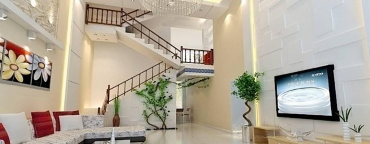 Salas / recibidores de estilo  por Công ty TNHH TK XD Song Phát, Asiático