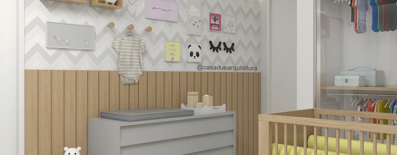 QUARTO BEBÊ: Quartos de bebê  por CASA DUE ARQUITETURA