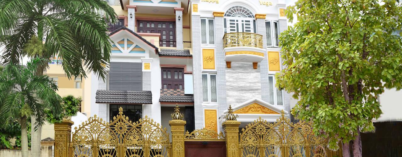 Công trình cổng nhôm đúc tại Biên Hòa:  Nhà by Cổng nhôm đúc Thiên Thanh Bảo