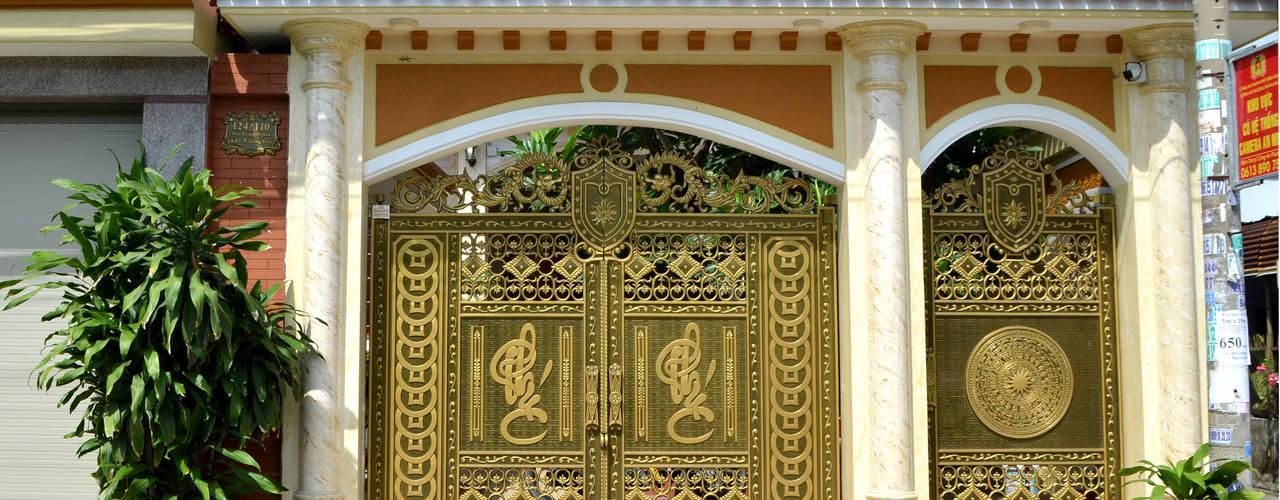 Các mẫu  nhôm đúc nguyên khối tinh hoa sắc sảo:  Nhà by Cổng nhôm đúc Thiên Thanh Bảo