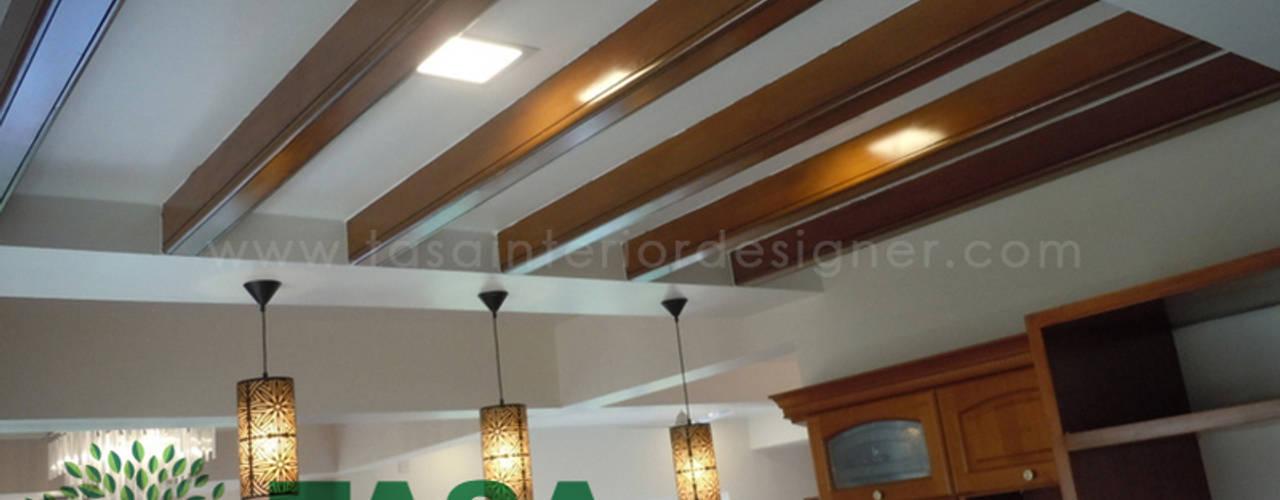 False Ceiling:  Walls by TASA interior designer