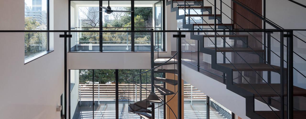緑と眺望を楽しむ長屋建て住宅 の 設計事務所アーキプレイス モダン