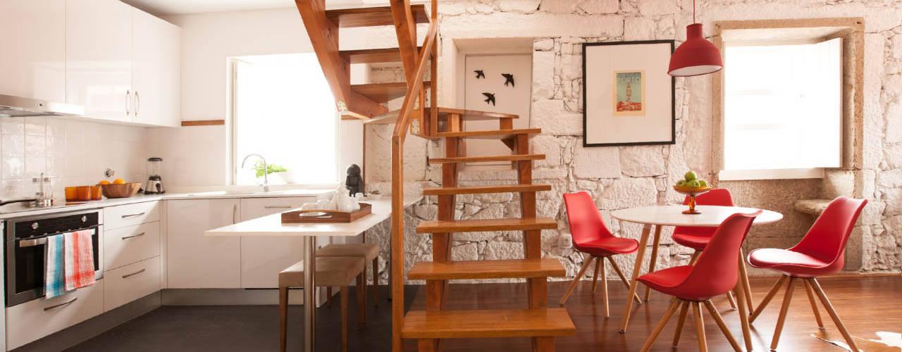 Apartamentos Rua de Trás - Alojamento turístico (7 apartamentos) - Centro do Porto por ShiStudio Interior Design Escandinavo