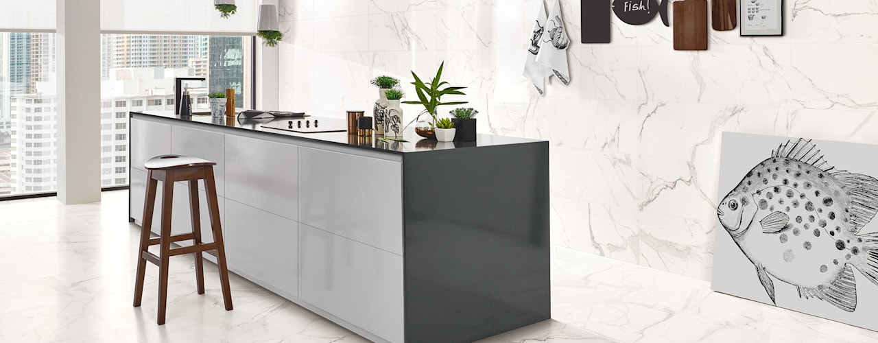 Precious Industrial style kitchen by Love Tiles Industrial