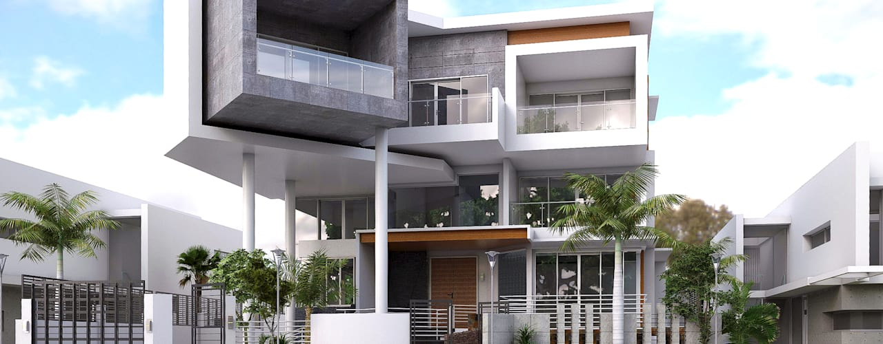 LSS HOUSE 1: modern Houses by NEIL TABADA ARCHITECTS