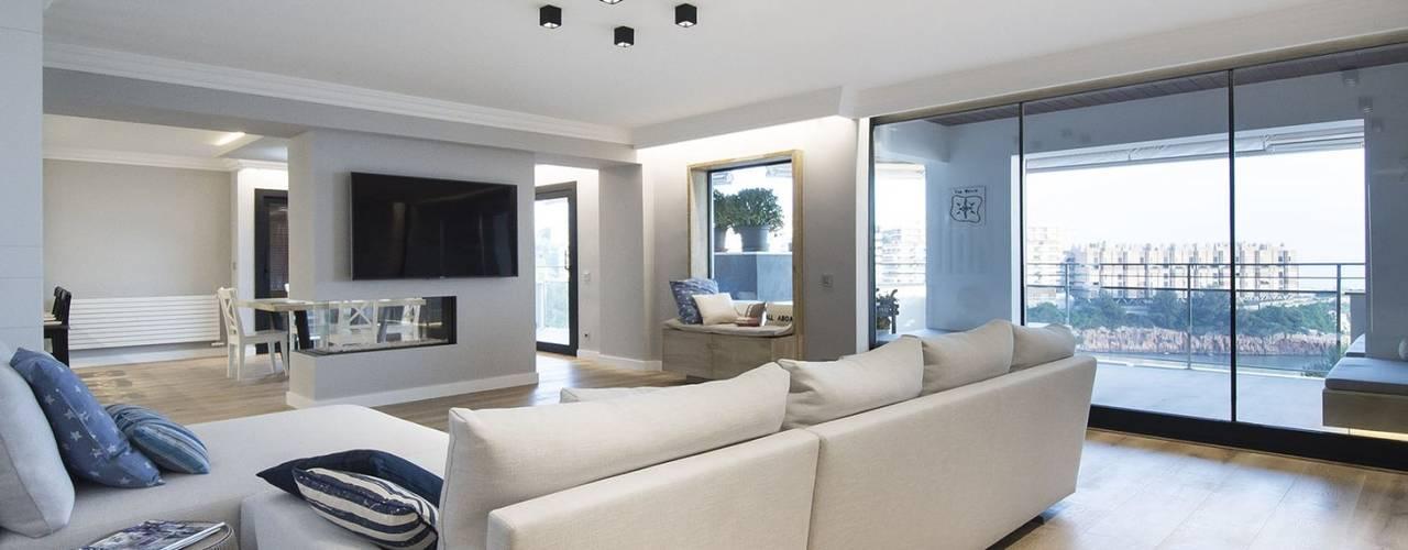 Living room by Luxiform Iluminación