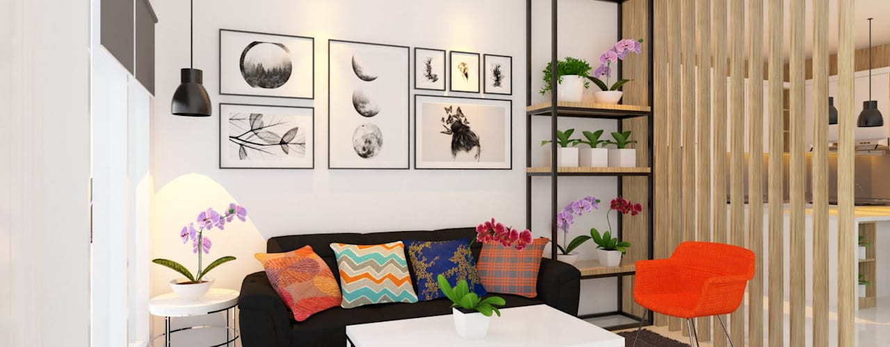 Renovasi Ruang Tamu Ruang Keluarga Modern Oleh Tata Griya Nusantara Modern
