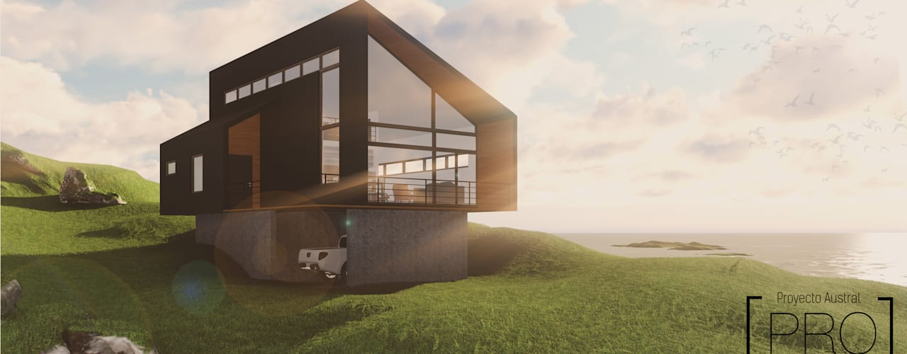 CASA MIRADOR Casas estilo moderno: ideas, arquitectura e imágenes de Pro Aus Arquitectos Moderno