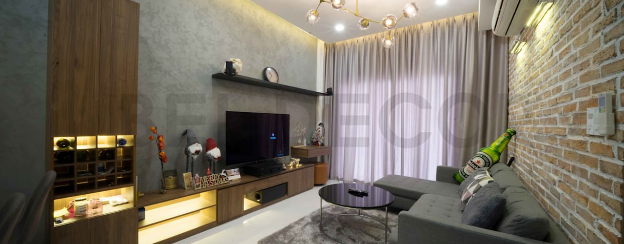 Project: HO1784 Apartment (IC)/ Bel Decor :  Phòng khách by Bel Decor