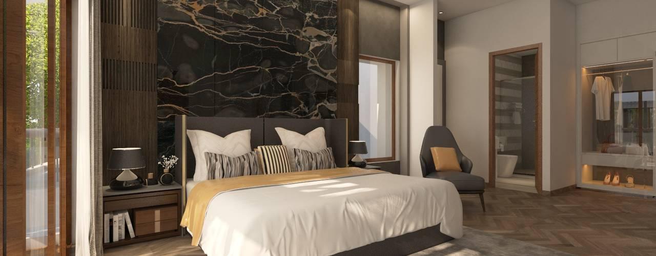 Master Bedroom Design: modern Bedroom by NVT Quality Build solution