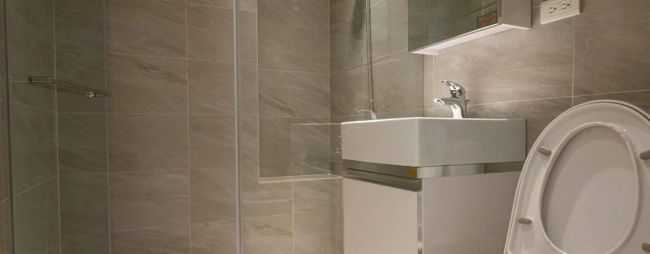 台中林公館:  浴室 by 築本國際設計有限公司