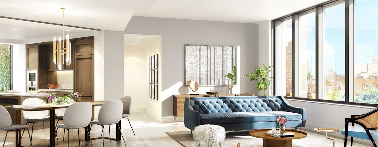 West Village GD Arredamenti Mediterranean style living room