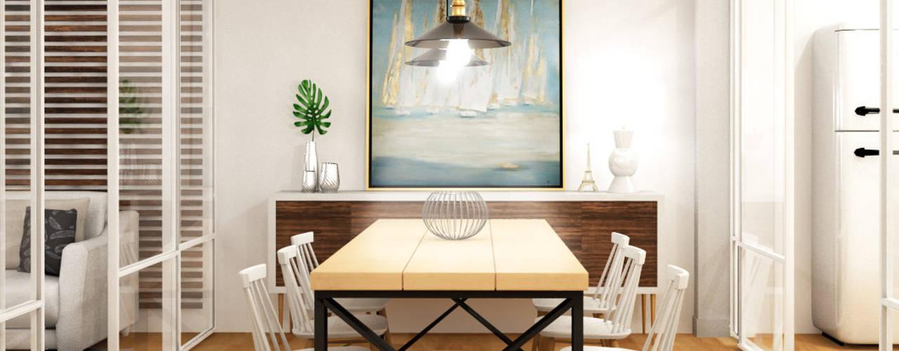 Villa Marbella - Decoración e Interiorismo Klausroom Comedores de estilo mediterráneo
