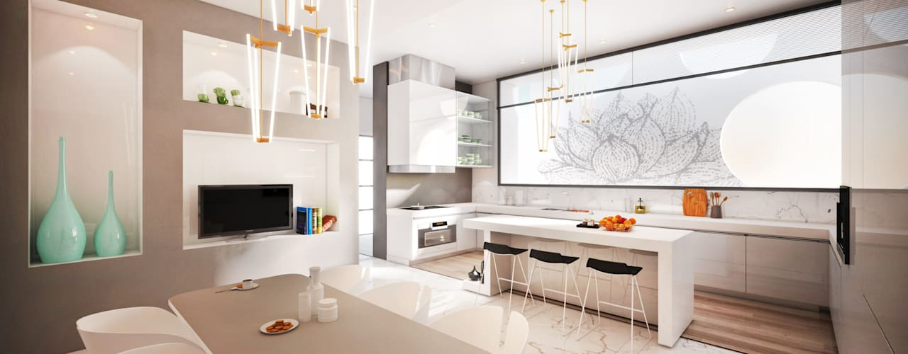 مطبخ تنفيذ Dessiner Interior Architectural