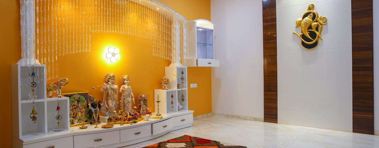 How To Plan The Pooja Room And Make The Walls And Ceiling Stunning