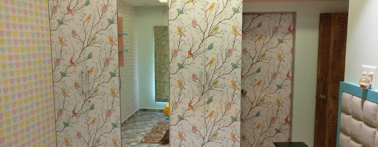 Kids room interiors in Mystique Moods, Viman Nagar, Pune:  Girls Bedroom by Umbrella Tree Designs