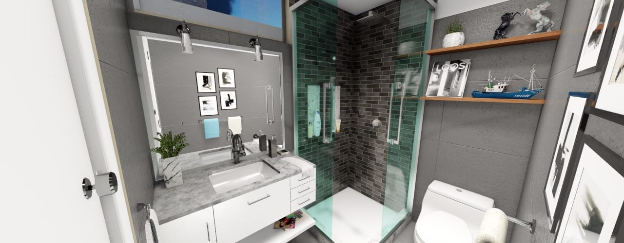 Salle de bains de style  par Minkarq. Arquitectura y construcción