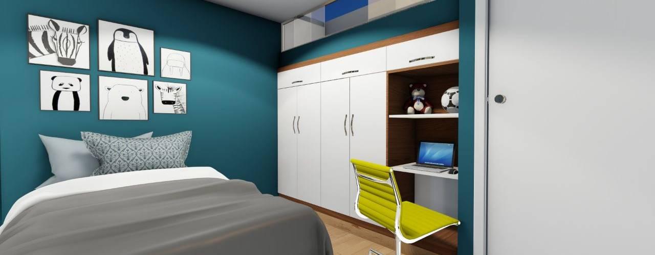 Modern style bedroom by Minkarq. Arquitectura y construcción Modern