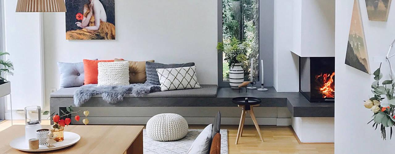 Wohnraumplanung im Bestand mit Anbau Studio Meuleneers Moderne Wohnzimmer