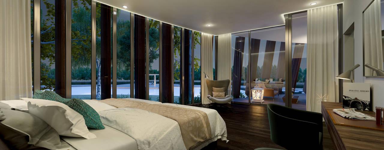CREEK Dormitorios de estilo moderno de AVANTUM Moderno