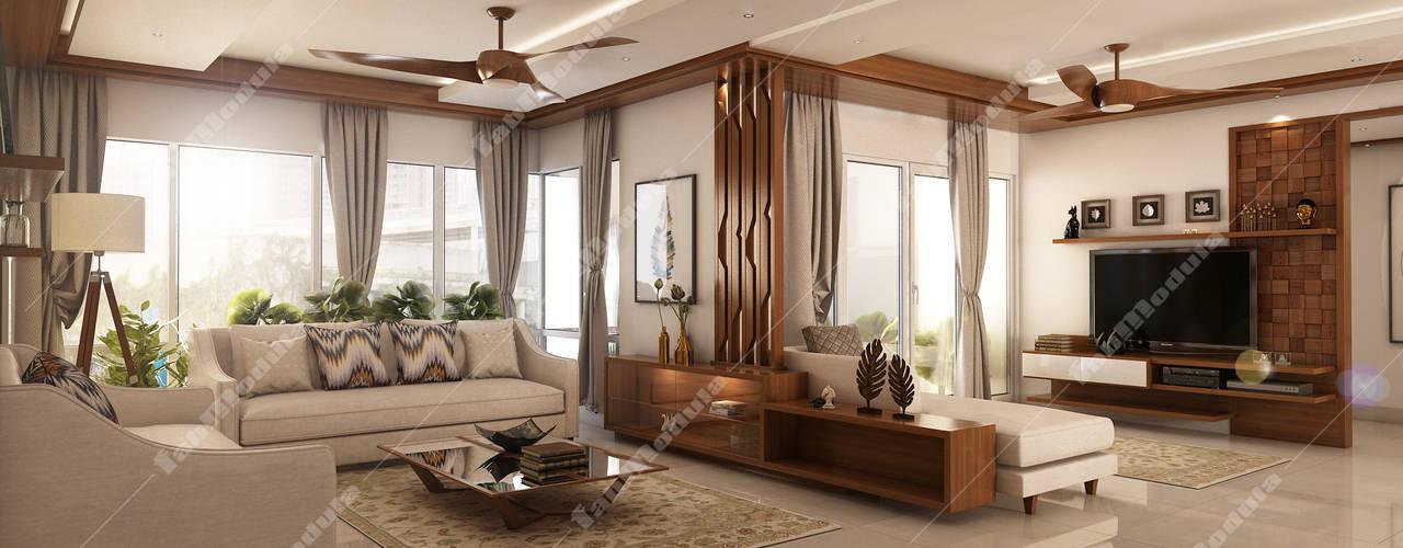 living room: modern Living room by Fabmodula