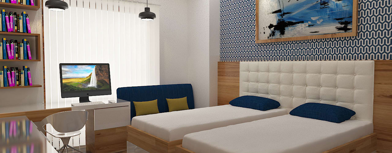 ATS hamlet One, NOIDA:  Bedroom by Form & Function