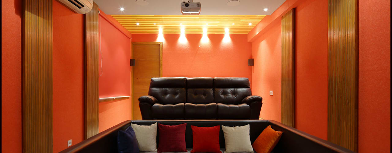 Modern style media rooms by malvigajjar Modern