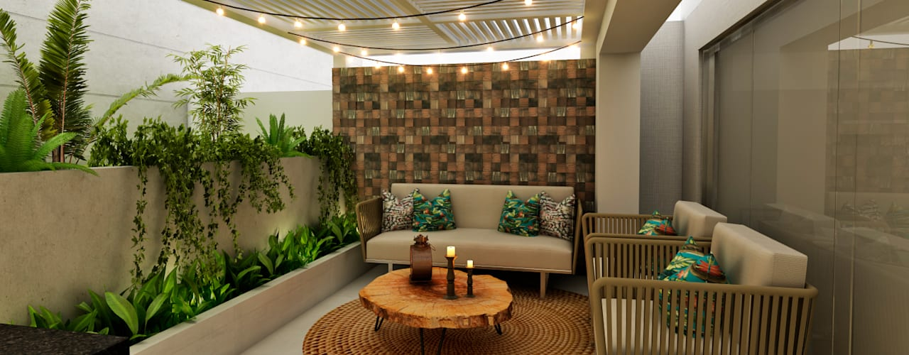 Balkon, Beranda & Teras Modern Oleh Luis Escobar Interiorismo Modern