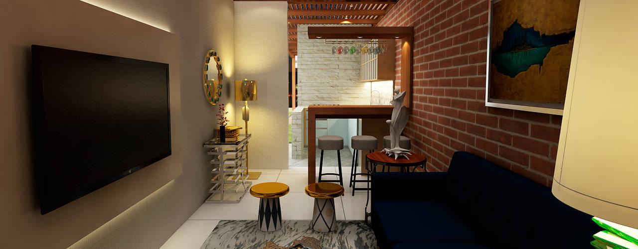 Proyecto ED Salas modernas de Luis Escobar Interiorismo Moderno