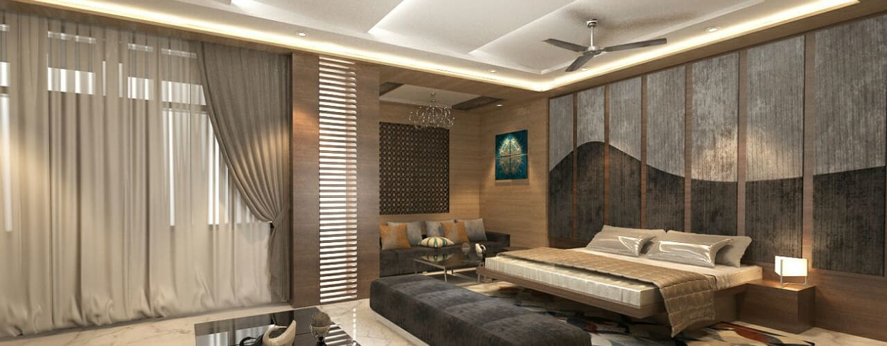 Residence-Pinjaniji:  Bedroom by KHOWAL ARCHITECTS + PLANNERS