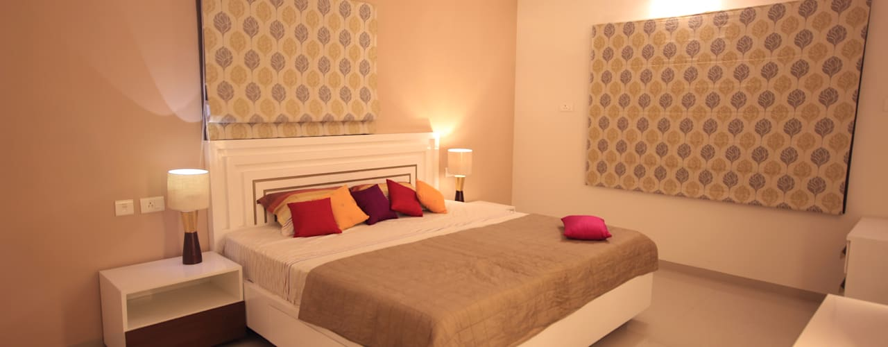 SANDEEP RESIDENCE:  Bedroom by CARTWHEEL