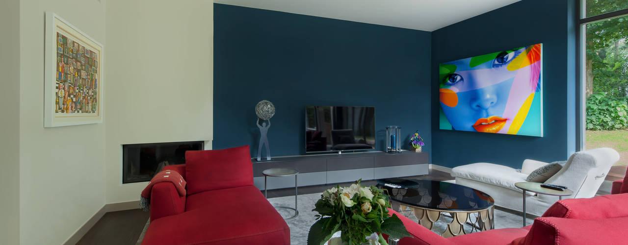 ADLER Wohndesign Salon moderne Bleu