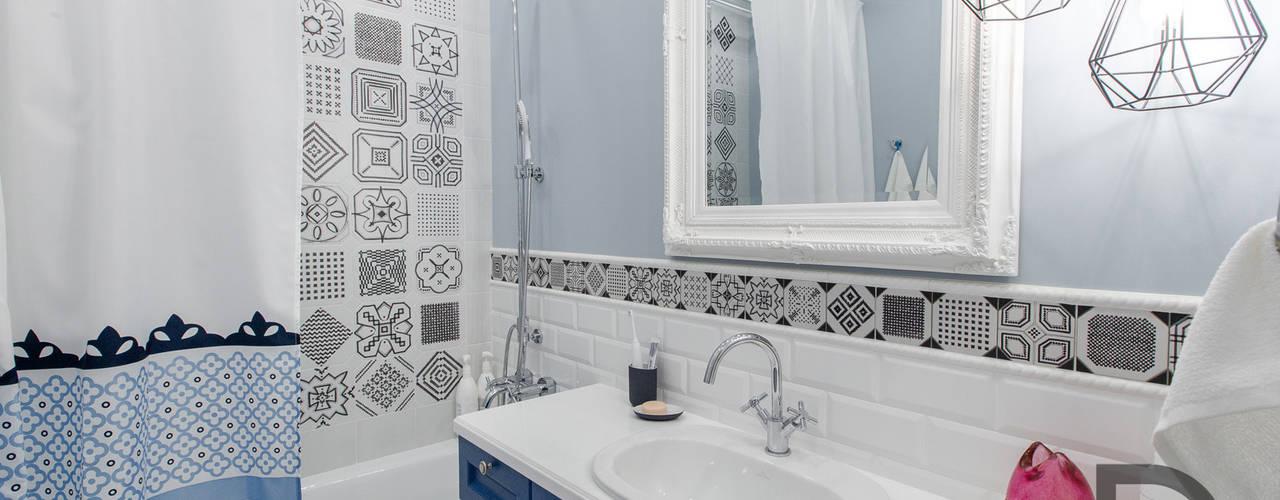 Скандинавский стиль с элементами лофта (реализация) Ванная комната в скандинавском стиле от Design Service Скандинавский