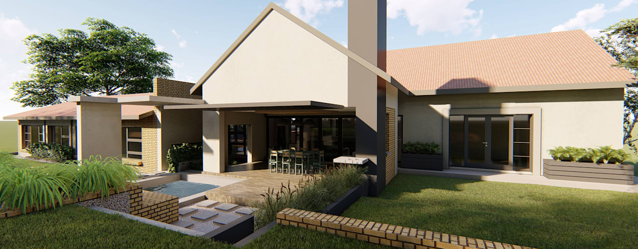 House Du Plessis:  Patios by Property Commerce Architects,