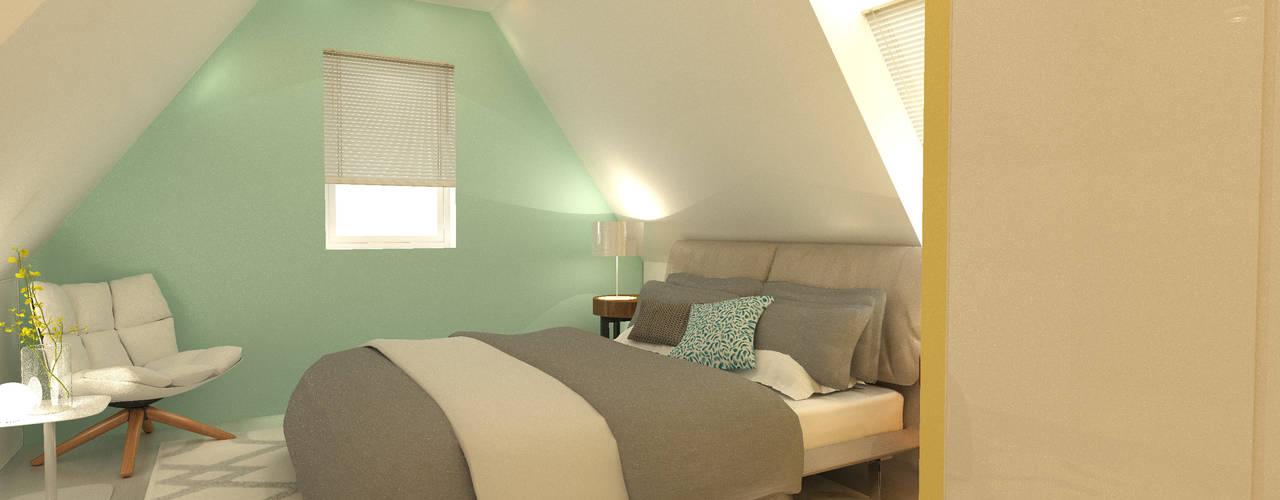 slaapkamer op zolder door stefania rastellino interior design