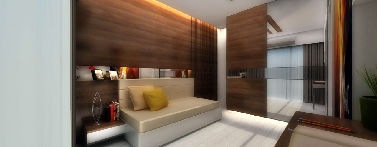 YOUNGSTERS BEDROOM:  Bedroom by A Design Studio