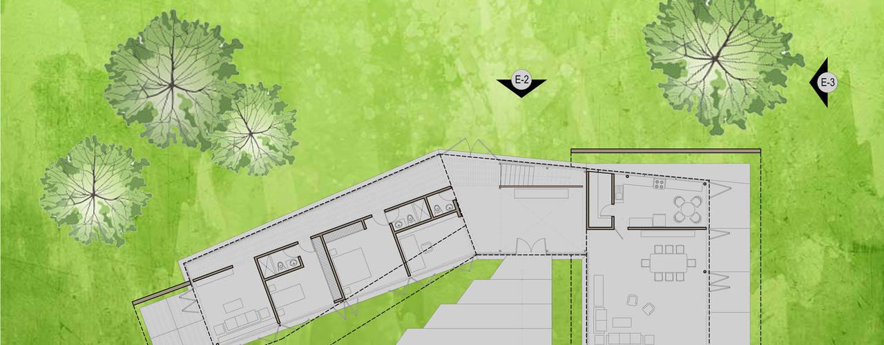 """Casa """"Pieles"""": Casas de estilo  por Artem arquitectura, Moderno"""