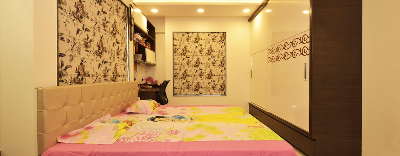 Mr Swapnil Choudhary: modern Bedroom by GREEN HAT STUDIO PVT LTD